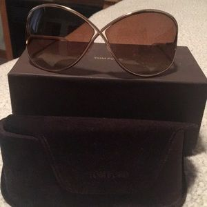 Tom Ford gold Miranda sunglasses